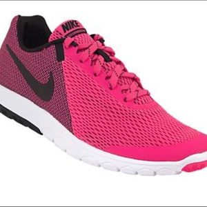 Nike Flex Experience RN Black and Pink Shoes